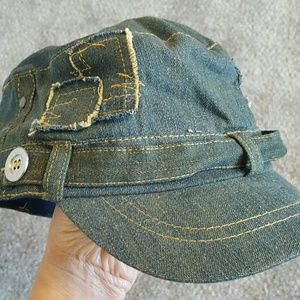 Accessories - Blue Denim Newsboy Hat